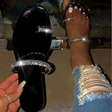 Fashion pop diamond sequins EVA women's sandals Candy-colored  Black sexy flat-bottom beach ladies slippers (US 5.5-10.5 )