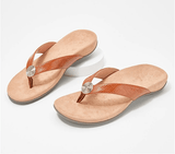 Women Thong Sandals w/ Rhinestone Buckle(8 colors available)