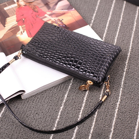 Fashion Mini Cute Small Chain&Vintage Messenger Bag Ladies Shoulder Bag CrossBody Bag Alligator Pattern Handbag