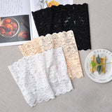 2PCS Sexy Strapless Tube Top Womens Solid Lace Perspective Wrap Top Off Shoulder Crop Top Bustier