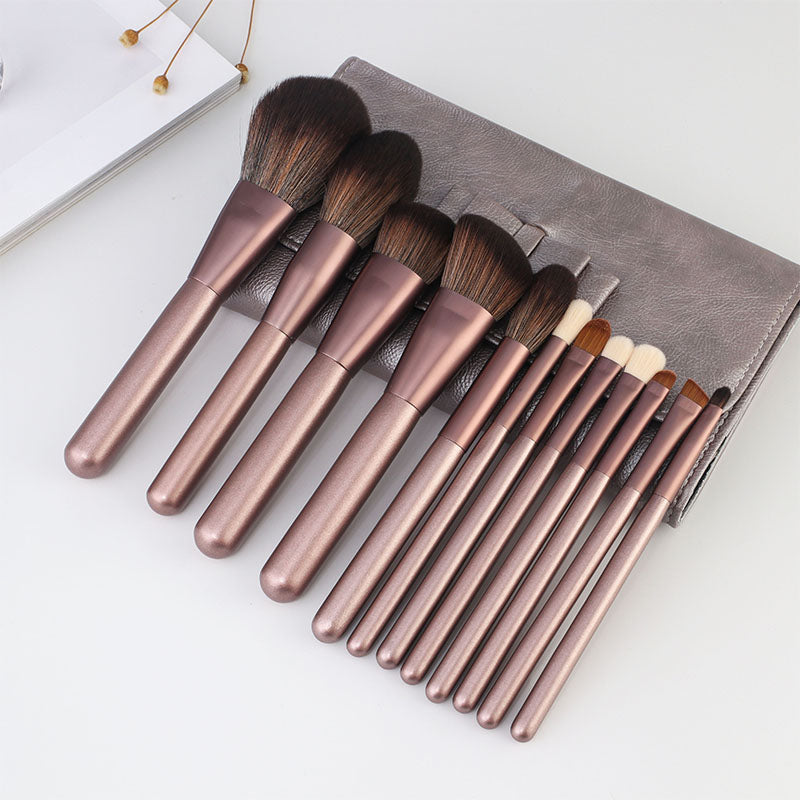 Doxa 12Pcs Professional Wood Handle Eyes Makeup Brushes Set