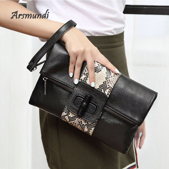 Leather Women Handbags Fashion Large-capacity Evening Bag Female Messenger Fashion Envelopes Clutch bag