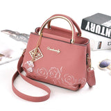 Luxury Handbags Embroidery PU Shoulder Bag New Crossbody Bags For Women Handle Handbags