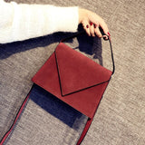 New Women's Clutch Bag Fashion Scrub Single Shoulder Mini Flap Bag Ladies Messenger Bags Top Handle Mobile Handbag