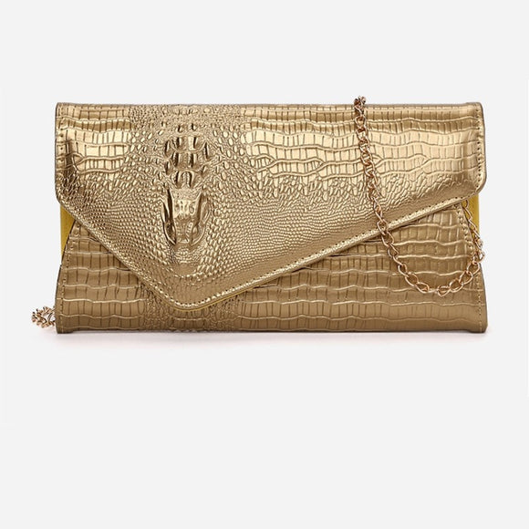 Clutch Bag New Crocodile Pattern Tide Luxury Women Envelope Shoulder Bag Fashion Messenger Bag Banquet Evening Handbag
