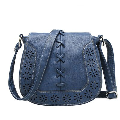 New Women Small Round Shoulder Bag Retro Mini Hollow Carved  Pu Leather Handbags designer Buckle Ladies Messenger Bags