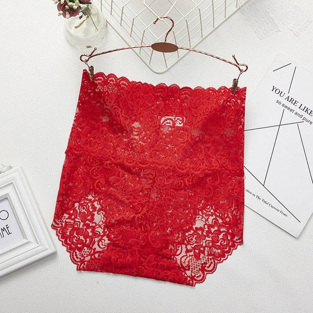 Women Panties Sexy Lace Underwear Woman Knickers Lace Panties Mesh Floral Lingerie Female Seamless Briefs Underpants Plus Size