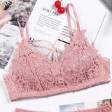 Gumprun 5 Color Embroidery Bra Lace Printing Push Up Bra Seamless Sexy Bras For Women Wire Free Lingerie Stylish Simplicity Bra