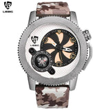 LIEBIG F302 Fashion Camouflage Quartz Watch for Men w/ Compass - Asia-Peak
