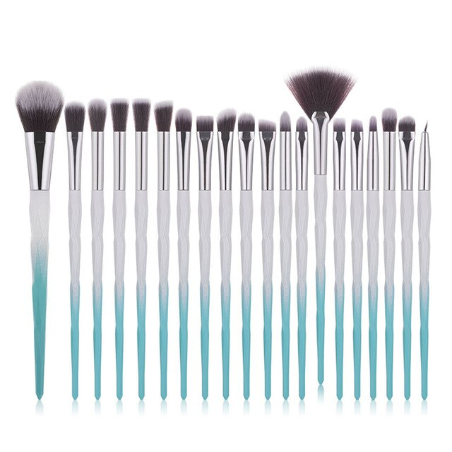 Diamond Makeup Brush Set 10/20pcs Eye Brush Beauty Tools Fan Powder Eye Shadow Contour Beauty Cosmetics Makeup Tools