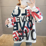 2020 Spring Womens Clothes Hoodies Teen Street Harajuku Hip Hop Pastel Sweatshirt for Women Printing Loose Leisure Hoodie Bts