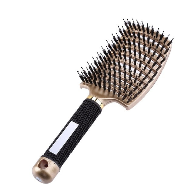 8 Color Comb Women Hair Scalp Massage Comb Bristle Nylon Hairbrush Wet Curly Detangle Hair Brush for Salon Hairdressing Tools