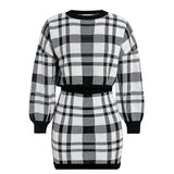2019 New Autumn Winter 2 Piece Set Women Slim Plaid Short Set Fashion Trim Jacket Coat + Short Suit High Waist A line Mini Short