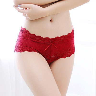 BEFORW Lace Sexy Panties Temptation Panties Women Low Waist Jacquard Panty Smealess Breathable Shorts Women Comfortable Briefs