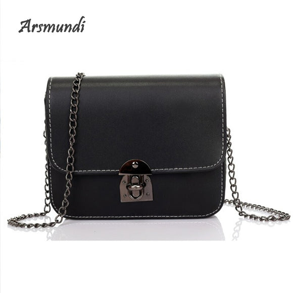 New Chain Solid&Fashion&Shoulder Bag Lock Cover Messenger Bag Handbags