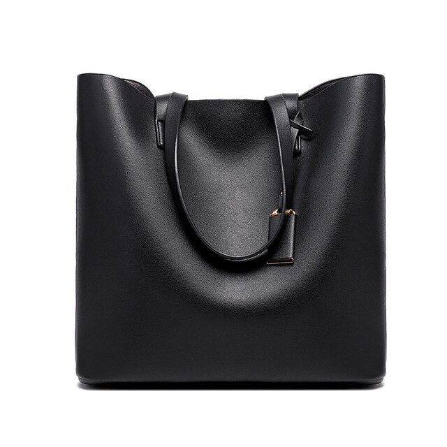 Women Bag 2020 New handbag Solid Color Ladies Shoulder Bag Microfiber Leather Pure Color Soft Surface Zippe Bucket Typer Bag