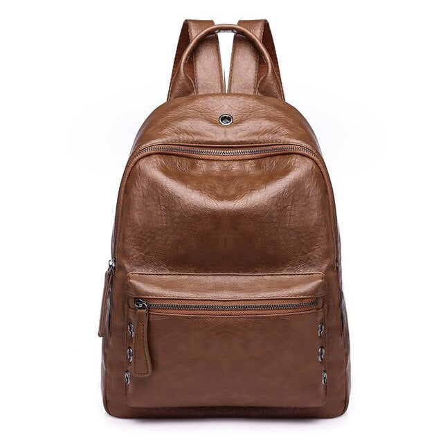Arsmundi New High Quality Women Backpack PU Leather Fashion Casual Ladies Backpack School Bags For Teenager Travel Shoulder Bag