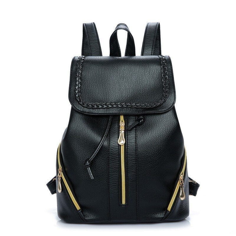 Simple Backpack Women Leather New High-quality Shoulder Bag Fashion Bucket Backpack For Teenage Girls Travel Backpacks
