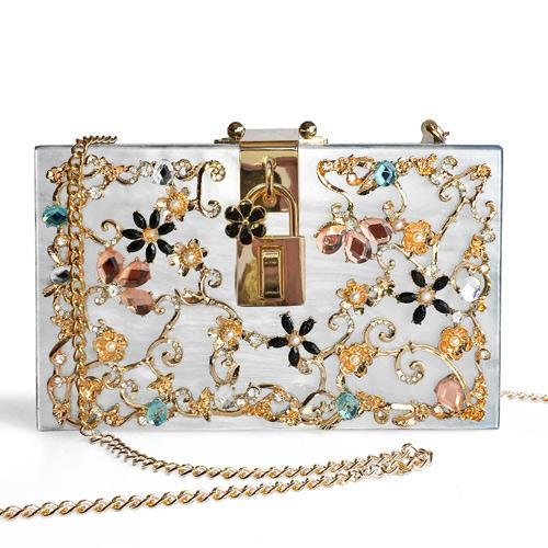 CRYSTAL FLORAL CLUTCH SOHO - Excklusive ID