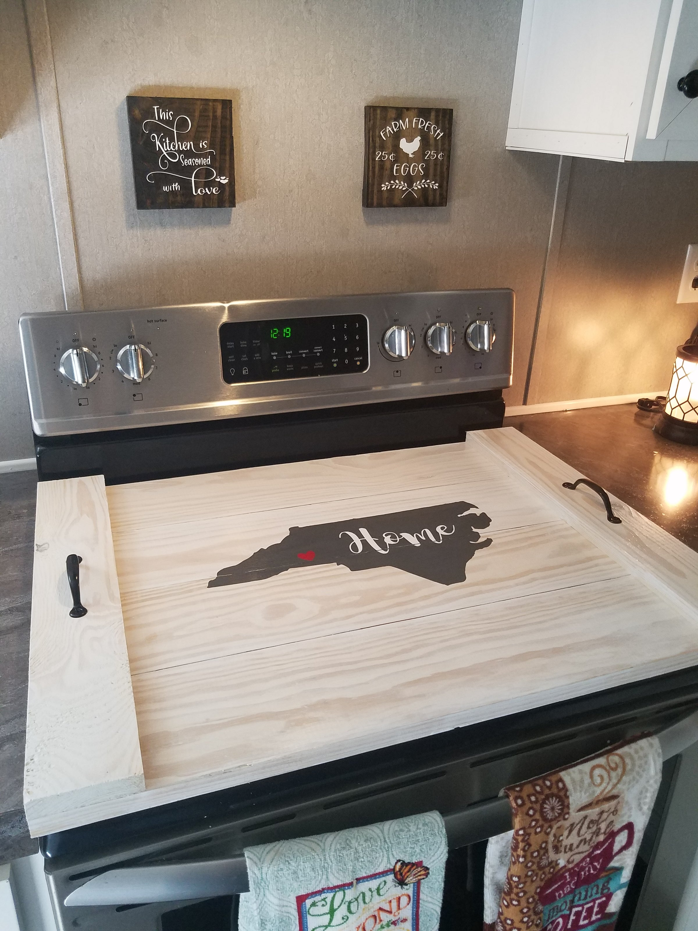 Stove Top Cover Wooden Stove Top Cover Noodle Boards Canedelynndesigns