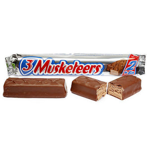 3 Musketeers King Size (2 bars) -3.28oz