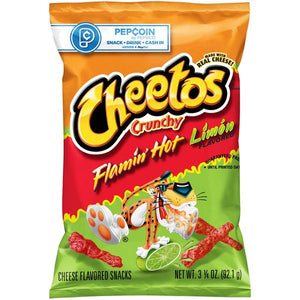 Cheetos Crunchy Flamin Hot Limon (2.75 oz)