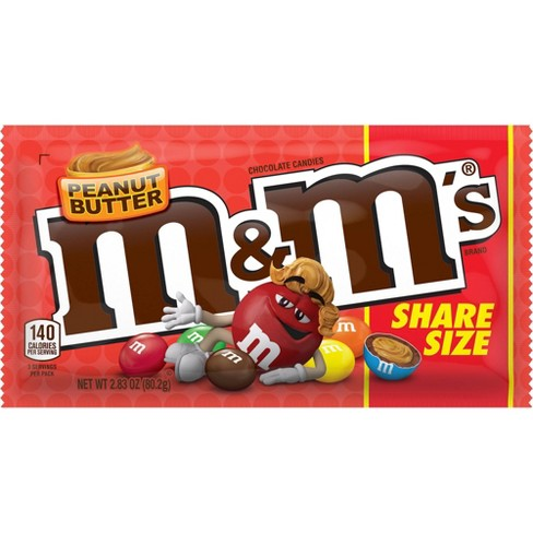 M&M Peanut Butter Share Size - 2.8oz