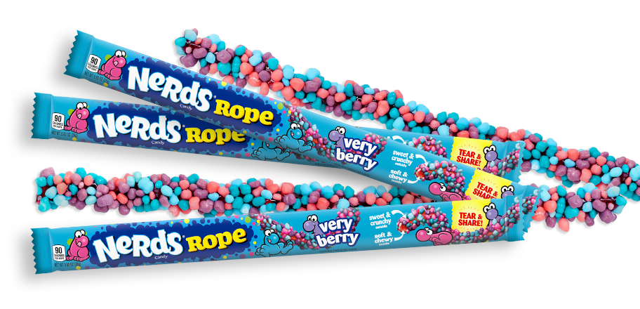 Wonka Nerds Rope Very Berry - 1oz