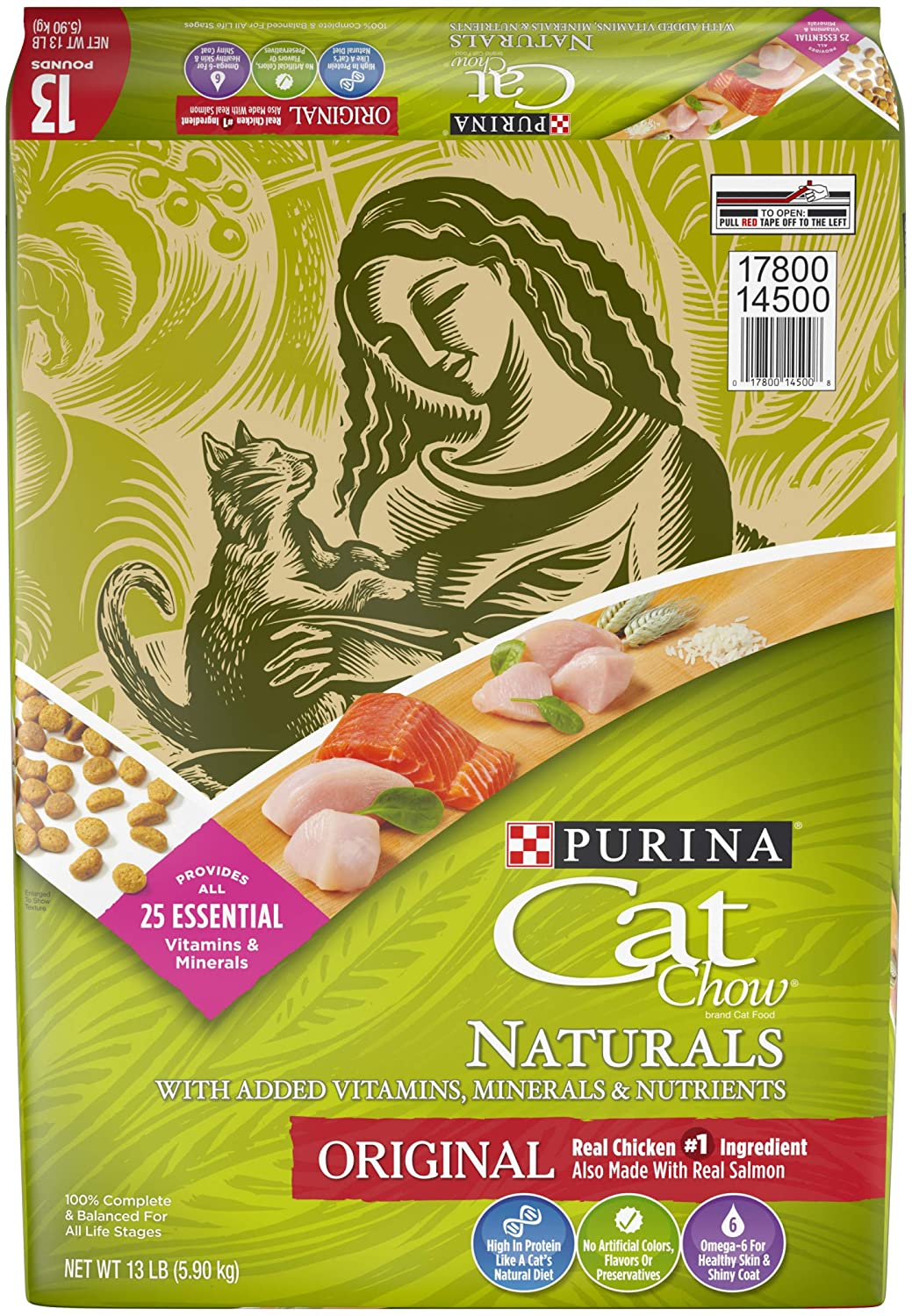 Purina Cat Chow Naturals with Chicken and Salmon Dry Cat Food