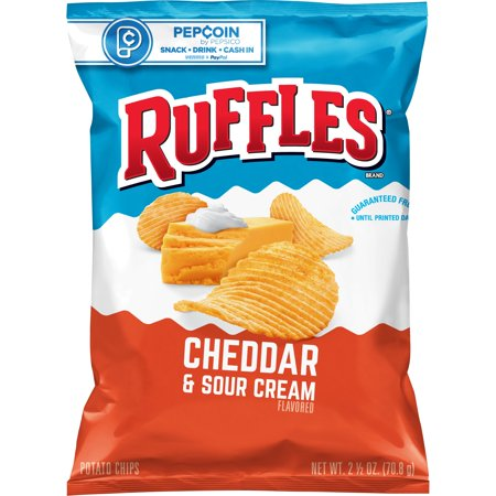 Ruffles Cheddar & Sour Cream Chips (2oz)