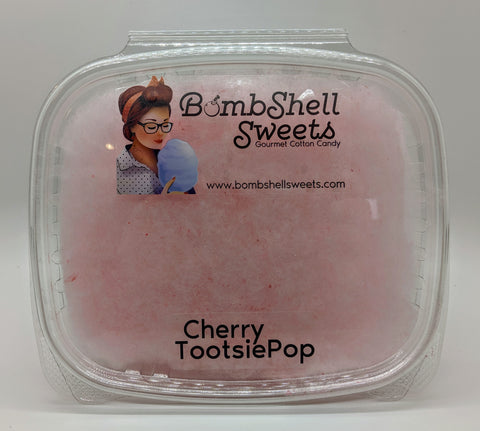 Cherry Tootsie Pop Cotton Candy