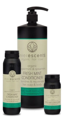Everescents Organic Fresh Mint Hair Conditioner 100ml, 250ml, 1L - Harlequin Hair