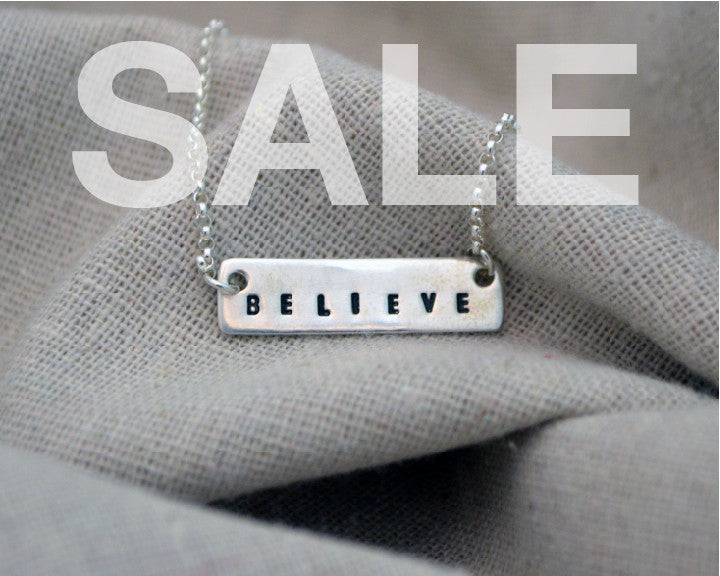 SALE Sterling Believe Necklace