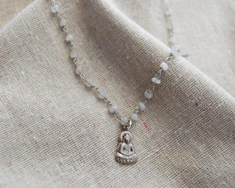 Buddha Moon Necklace  - One of a Kind