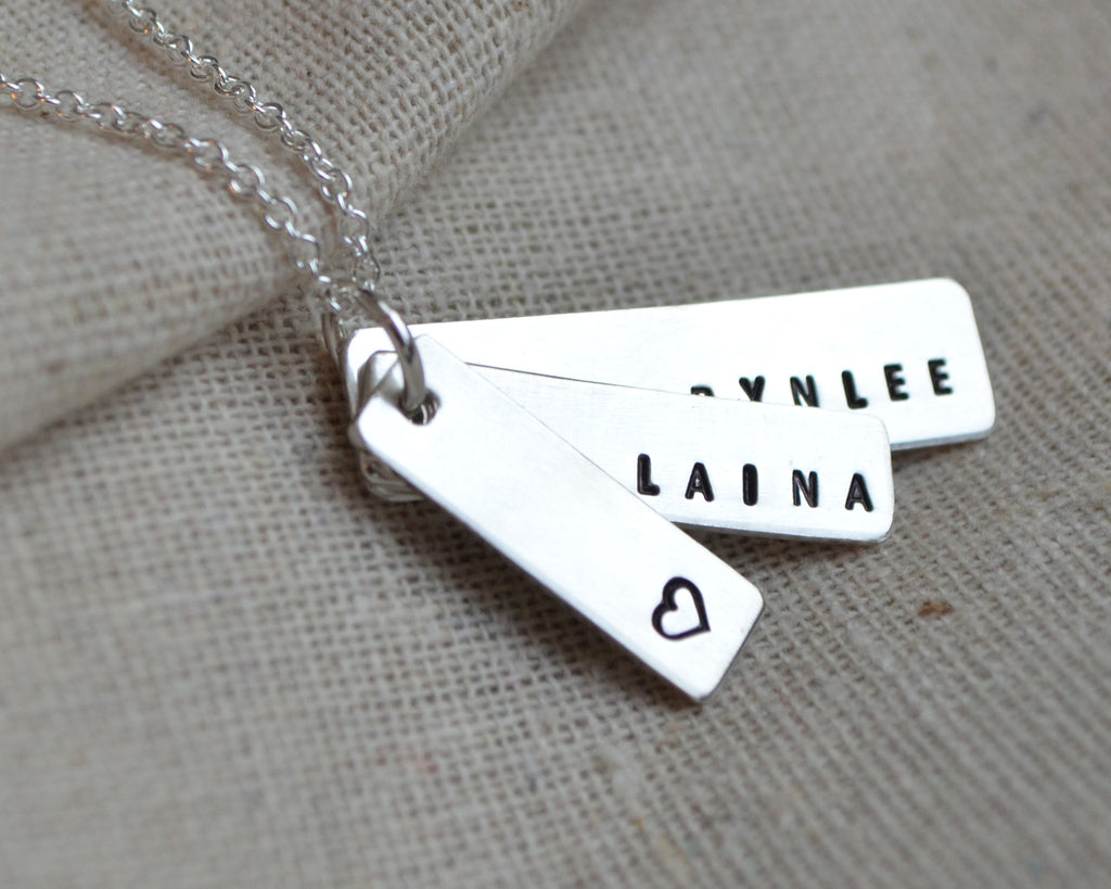 Three Charm Tapered Necklace