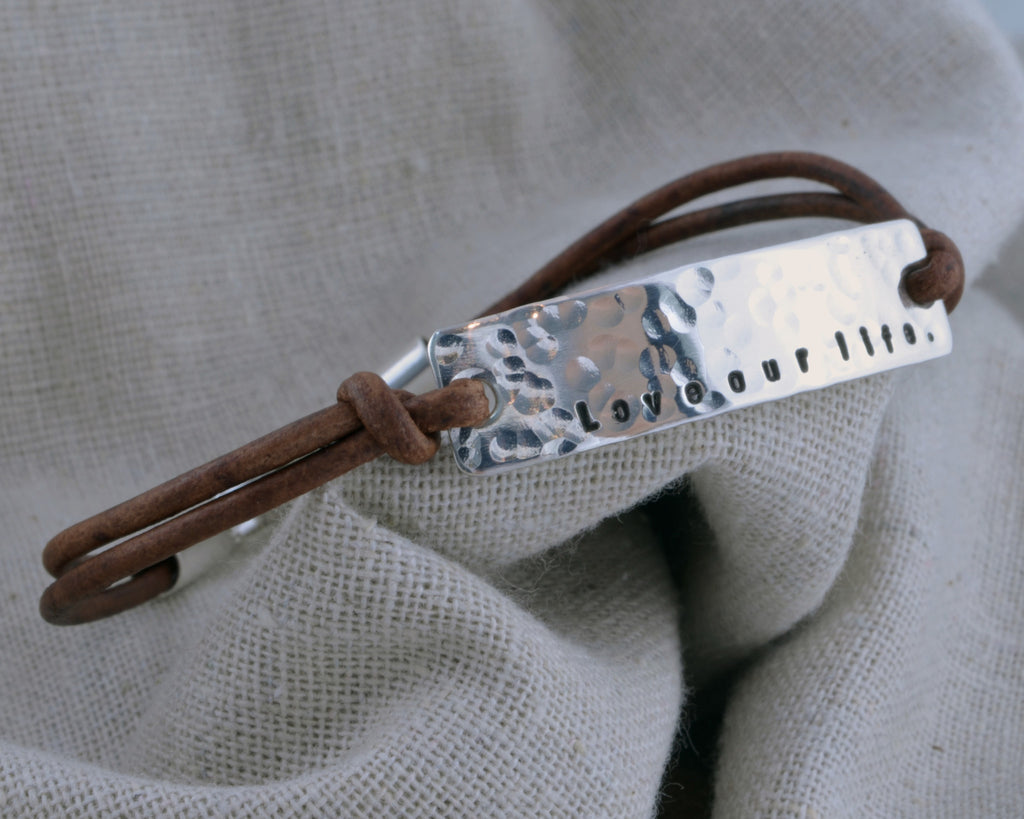 Hammered Mantra Bracelet