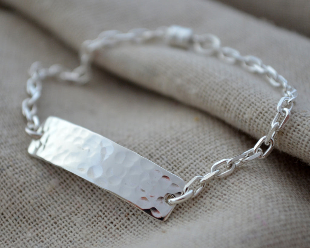 Hammered Hidden Message Bracelet
