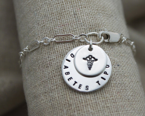 Double Dangle Charm Medical Alert Bracelet
