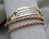 Three Line Fashion Wrap Medical Alert Bracelet