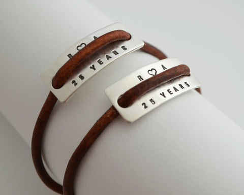 Modern Couples Bracelet Set