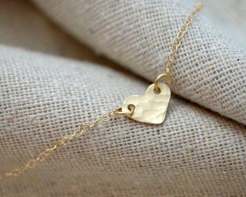 14K Tiny Heart Necklace