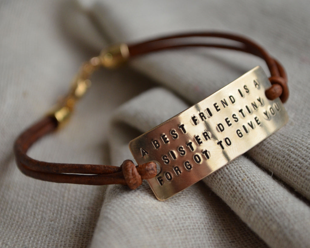 Best Friend Quote Bracelet
