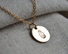 Simple Disc Necklace