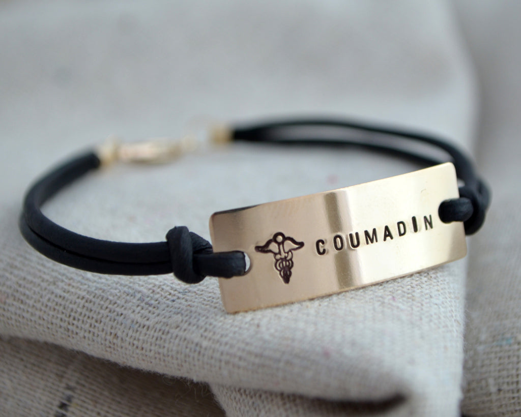 Classic Leather Medical Alert Bracelet