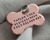 Dog Bone Pet Id Tag