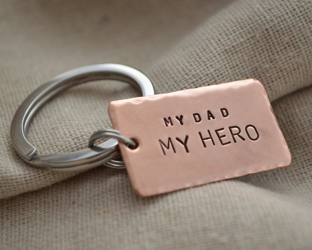 My Dad My Hero Keychain