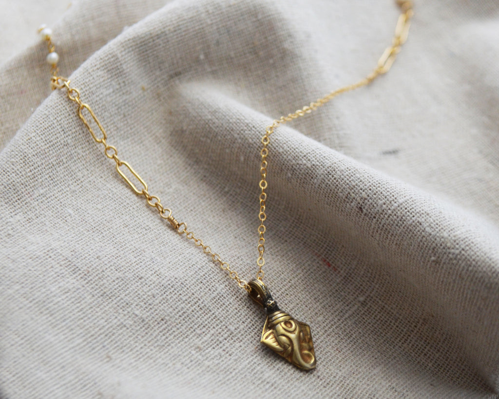 Gold Ganesha Good Fortune Necklace - One of a Kind