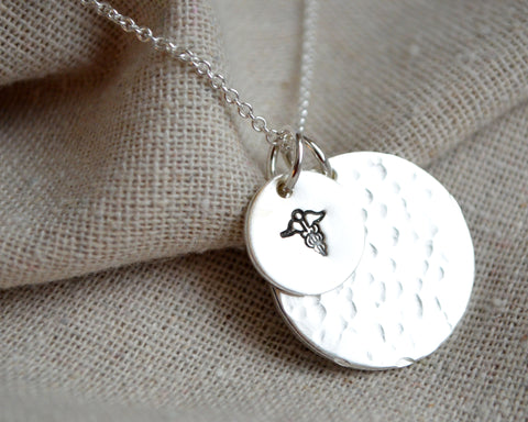 Two Private Medical Alert Disc Necklace