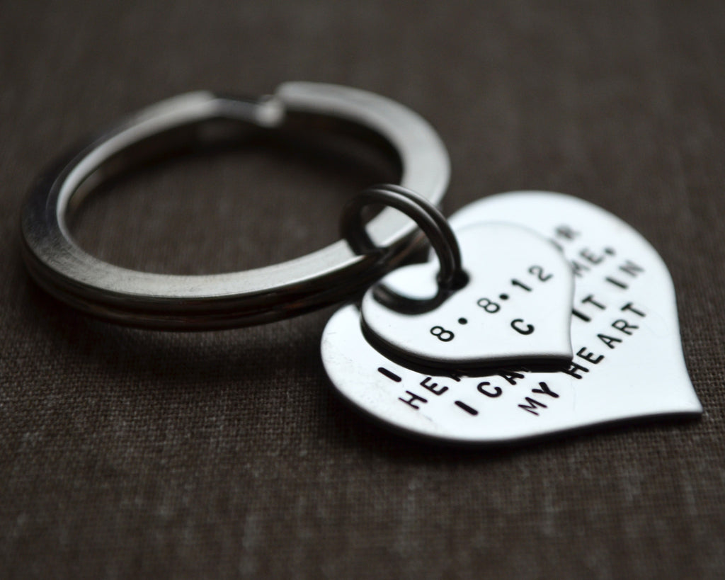 Two Heart Keychain