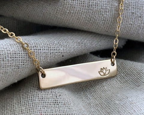 Suspended Bar Necklace